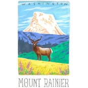 GreenBox Art Canvas National Parks, Mount Rainier 14x18