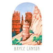 GreenBox Art Canvas National Parks, Bryce Canyon 14 x 18