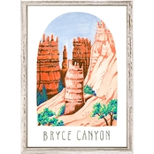 GreenBox Art Mini Framed Canvas National Parks, Bryce Canyon 5x7