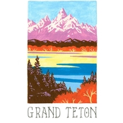 GreenBox Art Canvas National Parks, Grand Teton 14x18