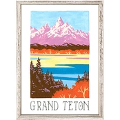 GreenBox Art Mini Framed Canvas National Parks, Grand Teton 5x7