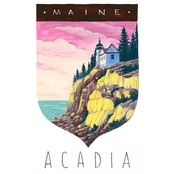 GreenBox Art Canvas National Parks, Acadia 14x18