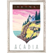 GreenBox Art Mini Framed Canvas National Parks, Acadia 5 x 7