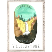 GreenBox Art Mini Framed Canvas National Parks, Yellowstone 5 x 7