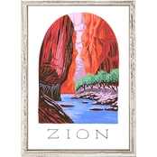 GreenBox Art Mini Framed Canvas National Parks, Zion 5x7