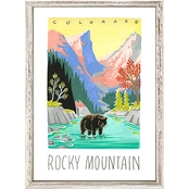GreenBox Art Mini Framed Canvas National Parks, Rocky Mountain 5x7