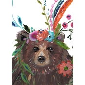 GreenBox Art Canvas Boho Bear 10 x 14