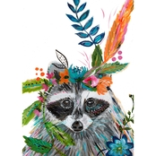 GreenBox Art Canvas Boho Raccoon 10x14