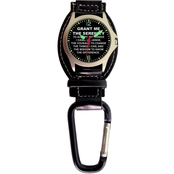 Aquaforce Men's Serenity Prayer Analog Quartz Carabiner Watch 29G2