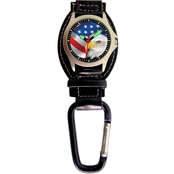 Aquaforce Men's U.S. Eagle Analog Quartz Carabiner Watch 29P1