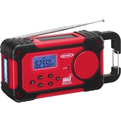 Jensen AM/FM Weather Band Weather Alert Radio with 4-Way Power