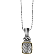 Effy Sterling Silver and 18K Yellow Gold 1/10 CTW Diamond Pendant