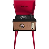 Studebaker Floor Stand Turntable with Bluetooth Receiver, CD Player and FM Radio