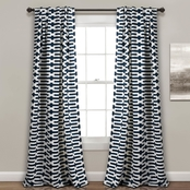 Lush Decor Austin Geo Room Darkening 52 x 84 in. Curtain 2 pk.Set