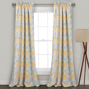 Lush Decor Blooming Flower Room Darkening 52X84 in. Multi Pair Drapery 2 pk. Set