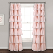 Lush Decor Lace Ruffle 52 x 84 in. Single Curtain