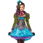 Leg Avenue Women's Deluxe Mad Hatter Costume
