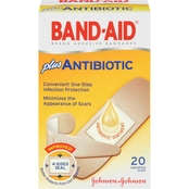 Band-Aid Adhesive Bandages Plus Antibiotic Ointment, Assorted Sizes, 20 Ct.