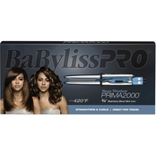 BaBylissPRO Nano Titanium Prima2000 3/4 in. Stainless Steel Mini Iron