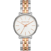Michael Kors Women's Pyper 3 Hand Tri Tone Stainless Steel Watch MK3901