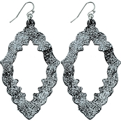 Panacea Metallic Leather Textile Earrings