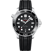 Omega Men's Seamaster 300m Diver's Rubber Strap 42mm Watch