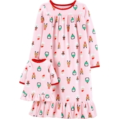 Carter's Toddler Girls Christmas Sleep Gown with Doll Gown
