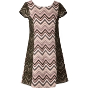 Bonnie Jean Girls Chevron Zipper Back Dress
