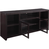 Scott Living Breckinridge Transitional TV Console with Glass Doors