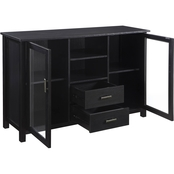 Scott Living Trista Transitional TV Console with Glass Doors