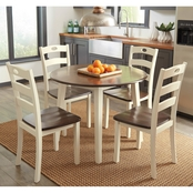 Ashley Woodanville Drop Leaf Table and Four Chairs Set