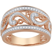 Love Honor Cherish 10K Rose Gold 1/3 CTW Diamond Ring