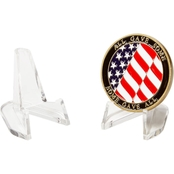 Challenge Coin Clear Plastic Easel 2 Pk.
