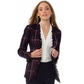 Calvin Klein Collection Graphic Tweed Flyaway Jacket