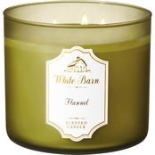 Bath & Body Works White Barn Flannel Candle