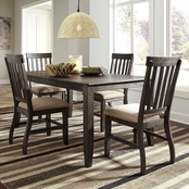 Signature Design by Ashley Dresbar Table with 4 Side Chairs