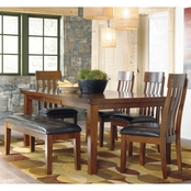 Signature Design by Ashley Ralene 6 pc. Butterfly Table Dining Set