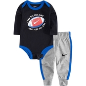 Nike Infant Boys Football Bodysuit with Pants Set