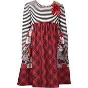 Bonnie Jean Little Girls Stripe to Pattern Mix