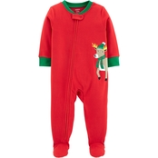 Carter's Infant Boys Reindeer Footed Pajamas