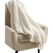 Martha Stewart Collection Faux Fur Reversible Throw