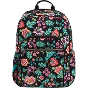 Vera Bradley Iconic Campus Backpack, Vines Floral