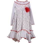 Bonnie Jean Little Girls Multi Print Dress