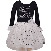Bonnie Jean Little Girls Knit to Mesh Tutu Dress