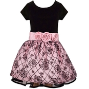 Bonnie Jean Little Girls Stretch to Flock Drop Dress