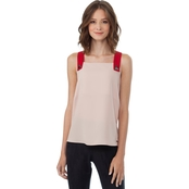 Armani Exchange Twill Scoop Neck Blouse