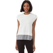 Armani Exchange Double Layer Blouse