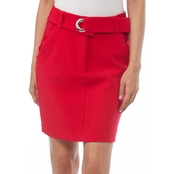 Armani Exchange Crepe Belted Mini Skirt