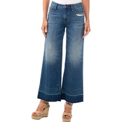 Armani Exchange Cropped Wide Leg Jeans
