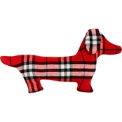 Martha Stewart Collection Plaid Pup Decorative Pillow 14 x 24 in.